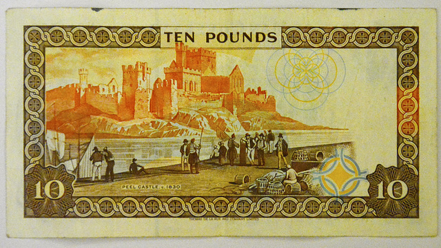 Isle of Man 2013 – £10 Isle of Man Pounds note reverse side