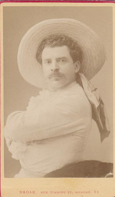 Léon Melchissédec by Nadar