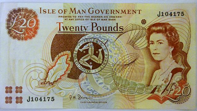 Isle of Man 2013 – £20 Isle of Man Pounds note