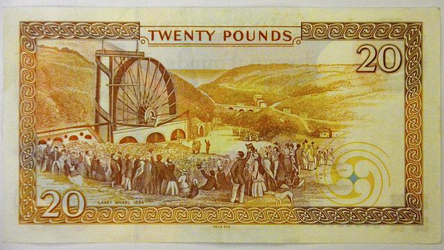 Isle of Man 2013 – £20 Isle of Man Pounds note reverse side
