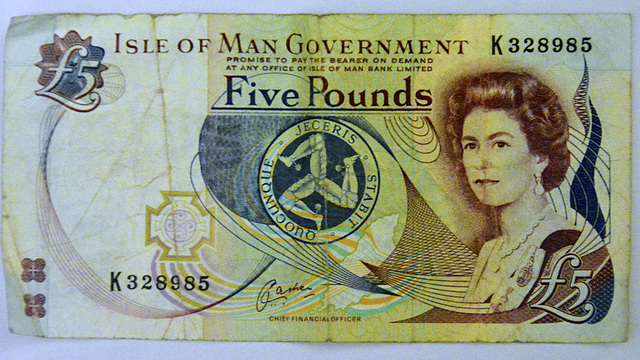 Isle of Man 2013 – £5 Isle of Man Pounds note