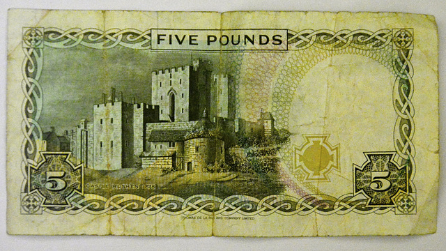 Isle of Man 2013 – £5 Isle of Man Pounds note reverse side