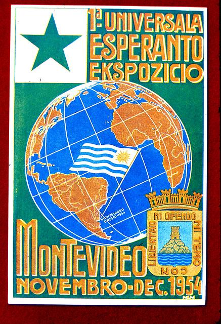 Première expôsition mondiale d'espéranto, Montevideo, Uruguay, 1954