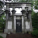 Mausoleum in the form of an Egyptian Temple in Woodlawn Cemetery, August 2008