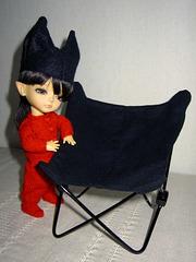 Making a bat chair 6/7