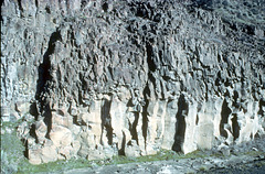 Columnar jointing in Columbia River basalt
