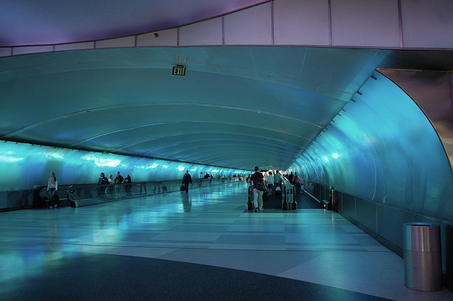 Airport tunnel ~ Blue