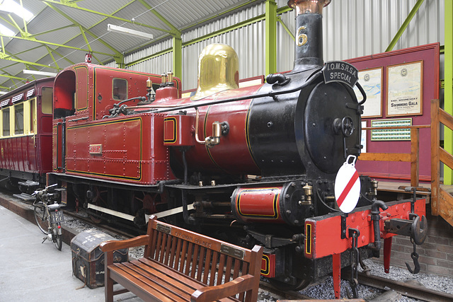 Isle of Man 2013 – Port Erin Railway Museum – № 6 Peveril locomative