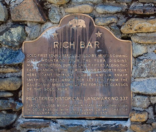 Feather River Rich Bar plaque (0186)