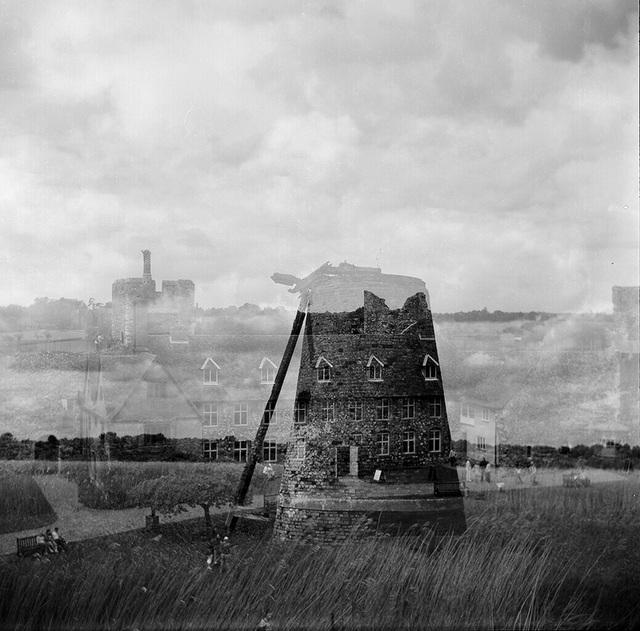 Framlingham castle and a windmill