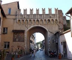 The Porta Settimiana in Trastevere in Rome, June 2012