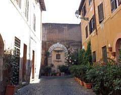 Dead-End Street in Trastevere in Rome, June 2012