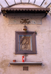 Shrine at the End of a Street in Trastevere in Rome, June 2012