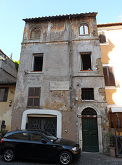 Building Facing the Piazza della Scala in Trastevere, June 2012