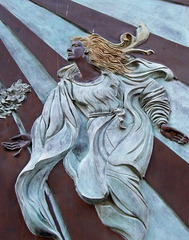 Detail of a Relief on the Facade of the Church of St. Dorothy in Trastevere in Rome, June 2012