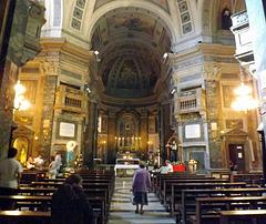 The Interior of the Church of St. Dorothy in Trastevere in Rome, June 2012