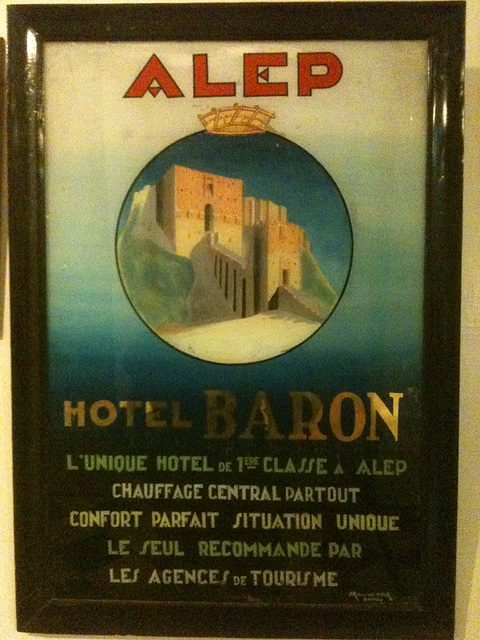 Hotel Baron, Aleppo, Syria 2011