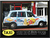 London Taxi with 'Estrella beer of Barcelona' vinyl wrap - East Dulwich - London - 11.10.2007