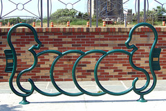 Bike Rack with Seahorses in Jones Beach, July 2010