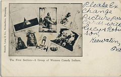 The First Settlers - A Group of Western Canada Indians