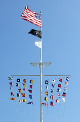 Flags in the Central Mall in Jones Beach, July 2010