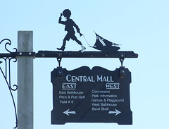 Sign on the Central Mall in Jones Beach, July 2010