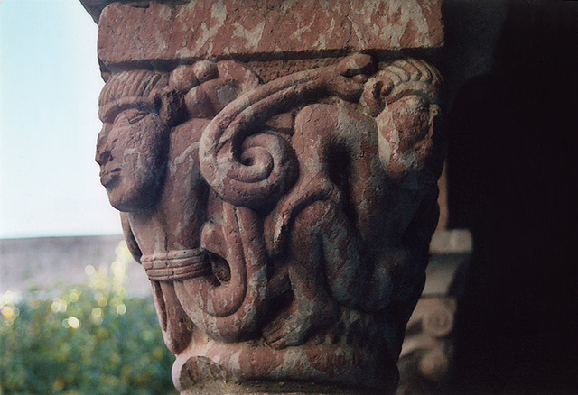 Romanesque Column Capital in the Cloisters, Oct. 2006