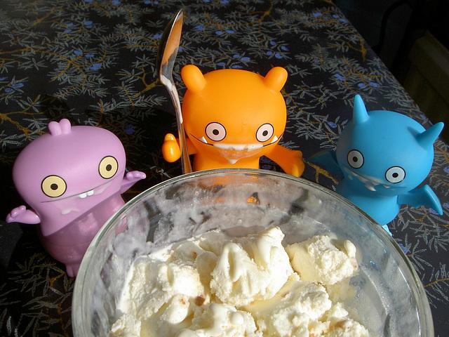 Ice cream for dessert