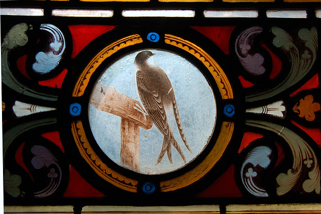 Detail of south aisle window, St Katherine, Rowsley, Derbyshire