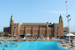 The West Bath House and the Pool in Jones Beach, July 2010