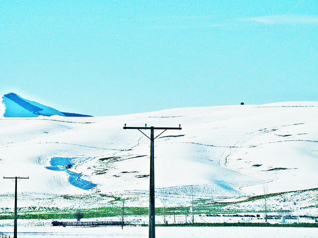 Snow on the foothills, South Canterbury
