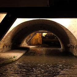 Erfurt bei Nacht - Unter der Krämerbrücke