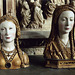 Reliquaries for the Skulls of Female Saints in the Cloisters, Oct. 2006