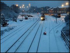 snow at Oxford railway sidings