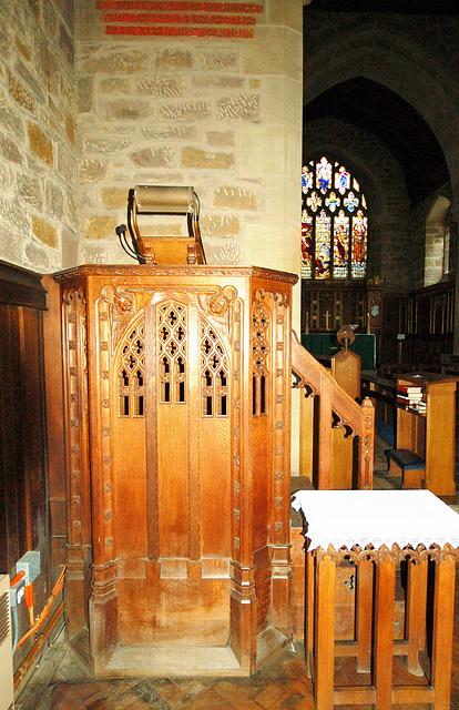 Pulpit, Christ Church, Lea, Derbyshire