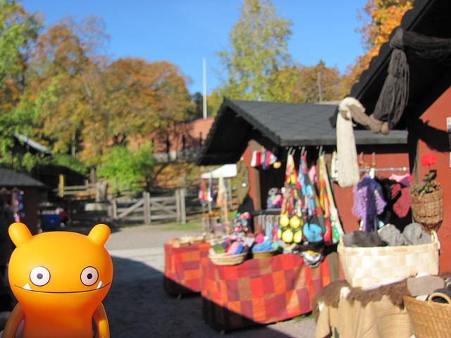 Wage at a craft market