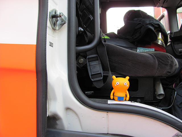 Wage visiting a fire station