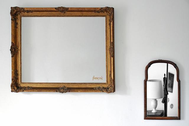 Spiegel met lamp - Mirror and lamp