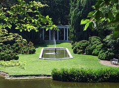 View of the Fountain and Colonnade in Old Westbury Gardens, May 2009