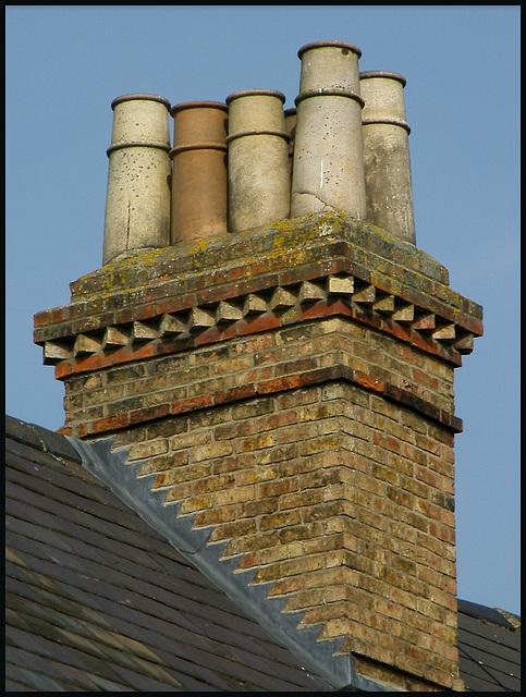 ornate chimney brickwork