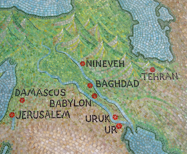 ipernity: Detail of the Ancient Near East on the Mosaic Map