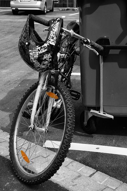 Wartendes Fahrrad