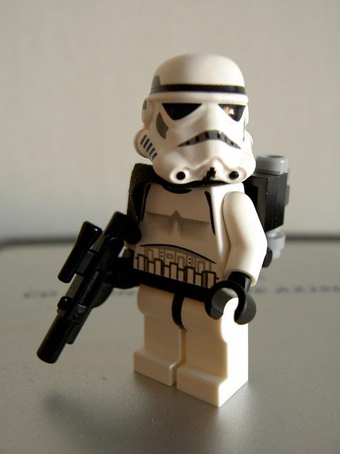 The littlest storm trooper