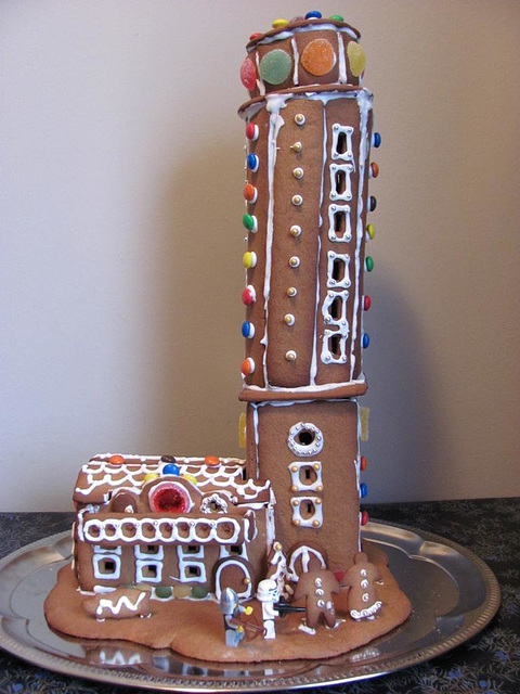 The gingerbread lighthouse guards 1