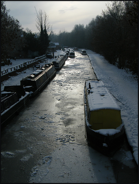 frozen canal at Jericho