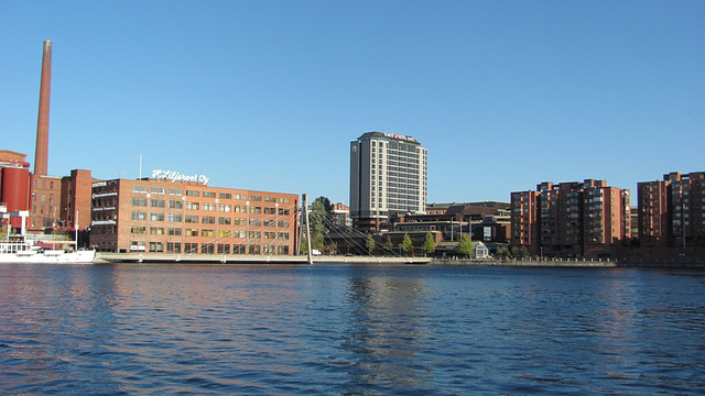 Alaranta, Tako factory, Kehräsaari, Hotel Ilves and some residential houses