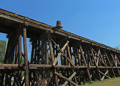 Railroad Trestle with Barrel