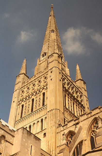 Norwich Cathedral spire, Norfolk, England