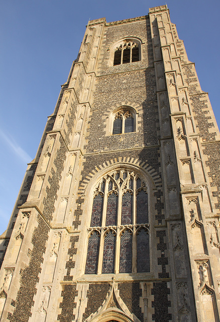 St Peter and St Paul Church tower, Lavenham, Suffolk, England