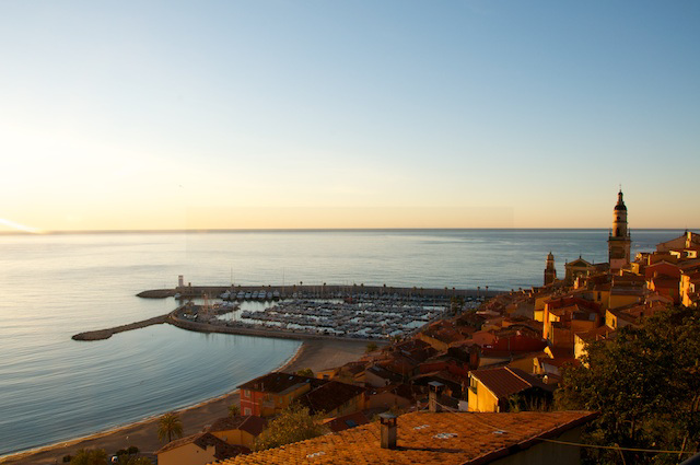 Menton at sunrise
